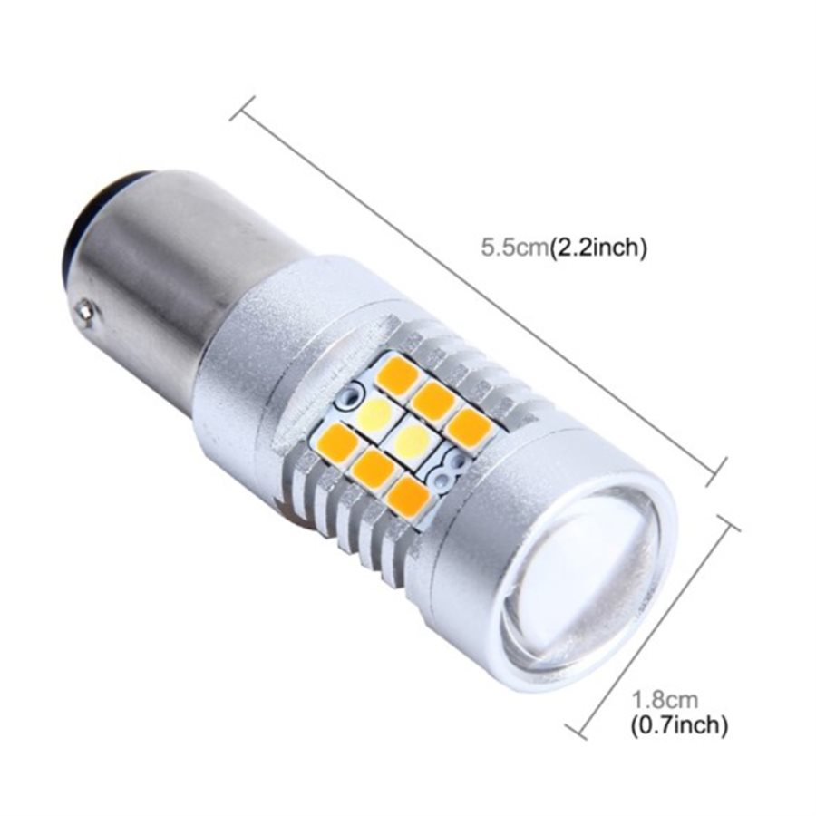 Car Turn LED Two Color Yellow White Strobe Flashing 1157 BAY15 3157 T25 7443 T20 LED Replacement Bulbs For Car Brake Tail Lights in Signal Lamp from Automobiles Motorcycles