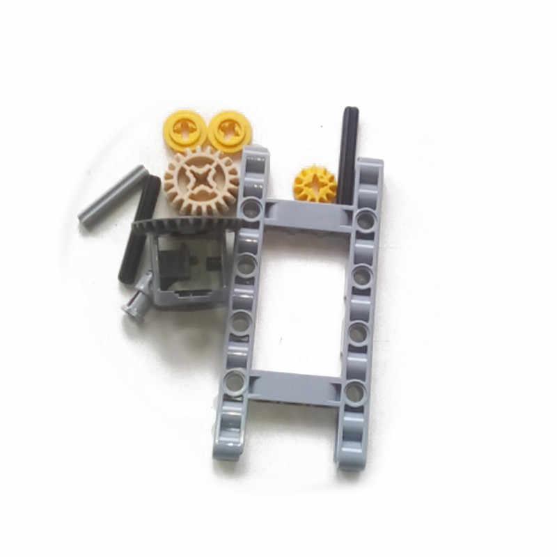 10 adet/takım MOC teknİk tuğla parçaları çerçeveli diferansiyel dişli seti kitleri paketi şasi parçası DIY oyuncaklar çocuklar için Fit için teknik arabalar