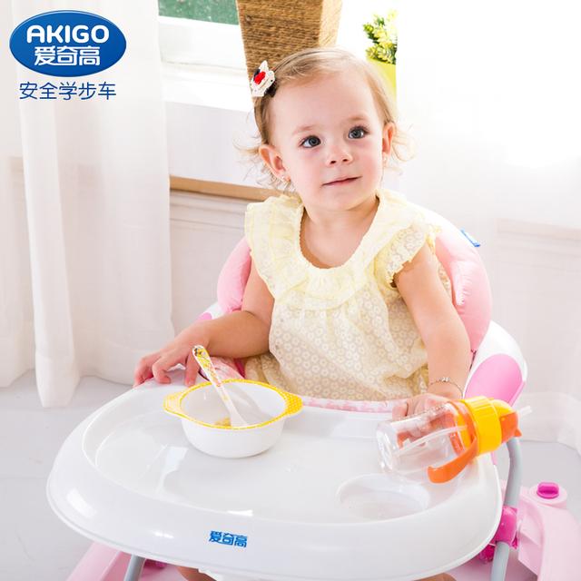 Bebé niño andador multifuncional cinturón coche comedor plegable bricolaje