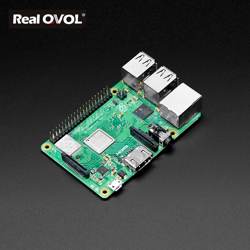 RealQvol 2018 New Original Raspberry Pi 3 Model B plus, the Improved Version 1.4GHz Cortex-A53 with 1GB RAM module newest raspberry pi 3 model b the 3rd generation kit 1 2ghz 64 bit quad core arm cortex a53 1gb ram 802 11n support wirel