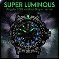 Angela bos militar liga de super luminosas homens relógio multifunction rotary dial compass exército silicone relógio dos homens de luxo famosa marca
