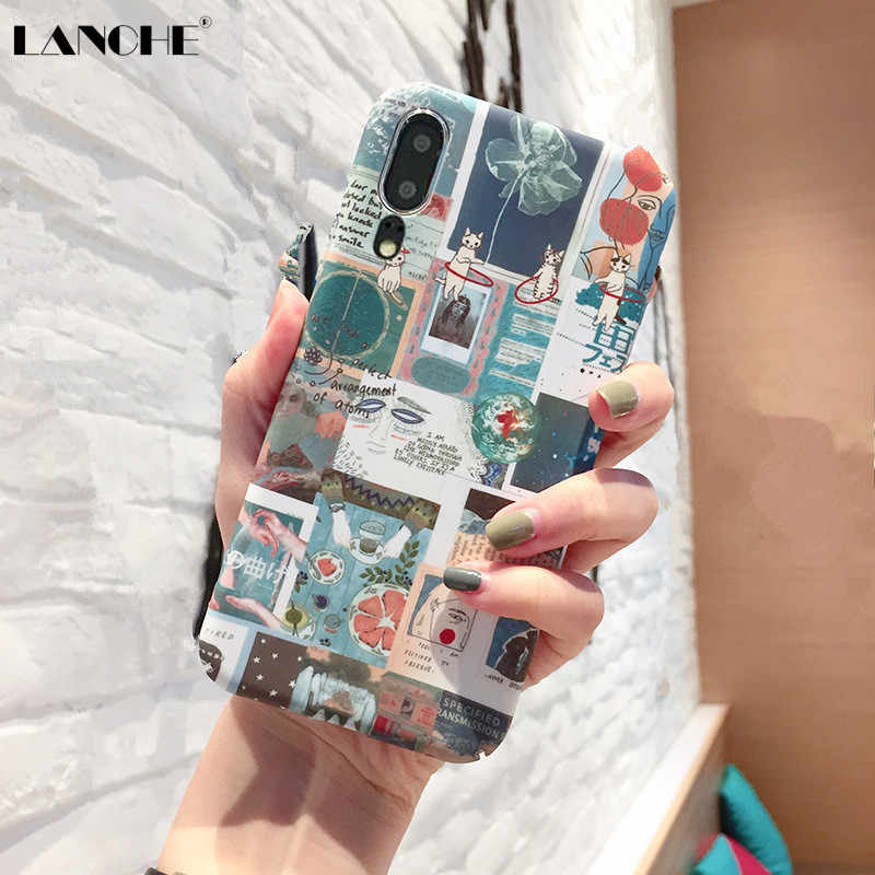 LANCHE Phone Case For Huawei P20 Lite Pro P30 Pro Nova 3 3i 2s Case Hard PC Cartoon Phone Cover Case On For Honor 10 9 8X V9 V10