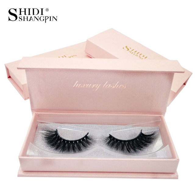 SHIDISHANGPIN 1 Pair mink eyelashes natural long makeup false eyelashes 3d mink lashes hand made eyelash extension faux cils