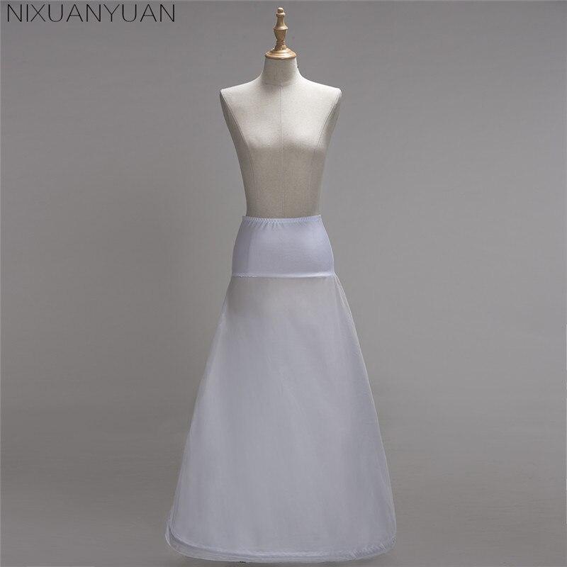 Women White 1 Hoop A-line BONE FULL CRINOLINE Petticoats Wedding Accessories Bridal Crinolines Vestidos De Novia Underskirt 2020