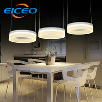 (EICEO) Hotel Cafe LED Chandelier Living Room Bedroom Lighting Lamps Atmosphere Creative Triangle Lights Pendant Lamp 3 head