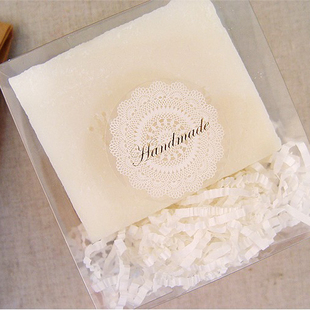 80Pcs White Lace Golden Hand Made Handmade Cake Packaging Sealing Label Kraft Sticker Baking DIY Work Gift Box Stickers M1108