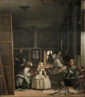 Las Meninas Paintings by Diego Velazquez Portrait art High quality Hand painted