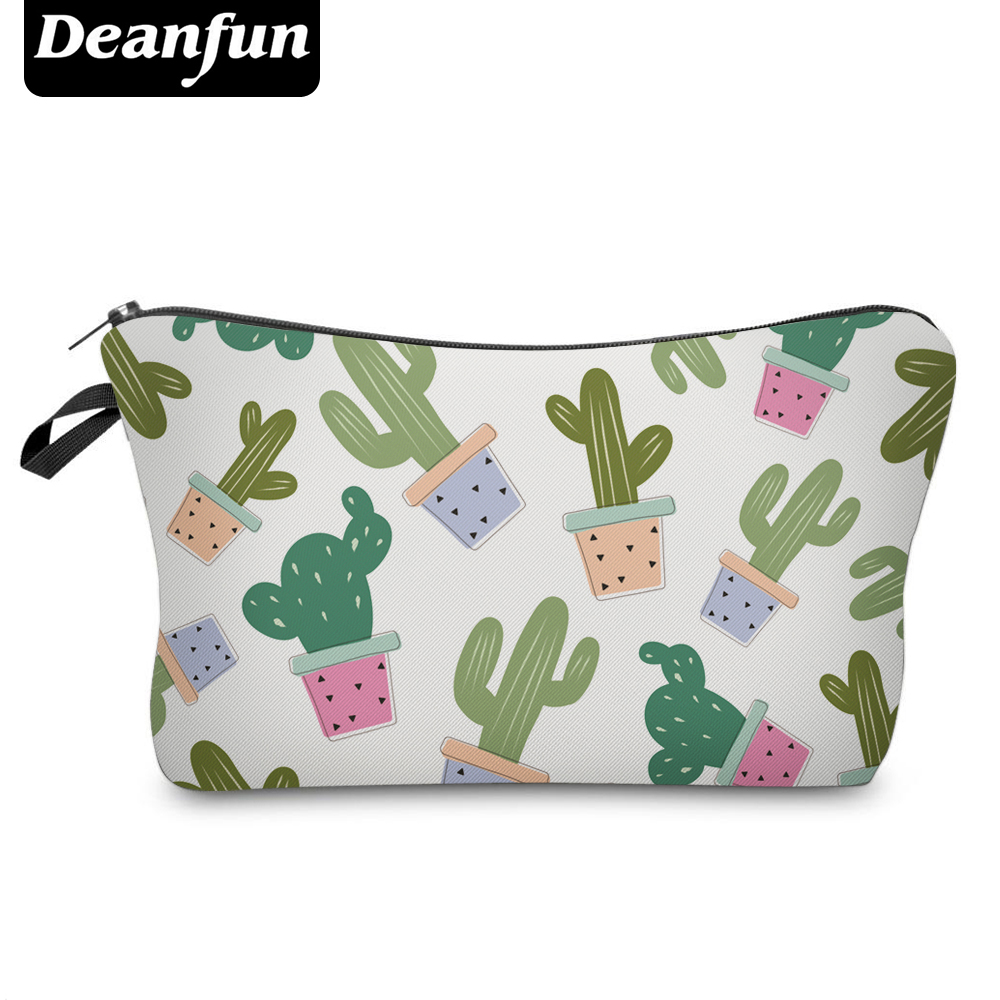 Deanfun 3D Printing Cactus Cosmetic Bags Cute Necessaries For Girls Makeup Travelling  35509