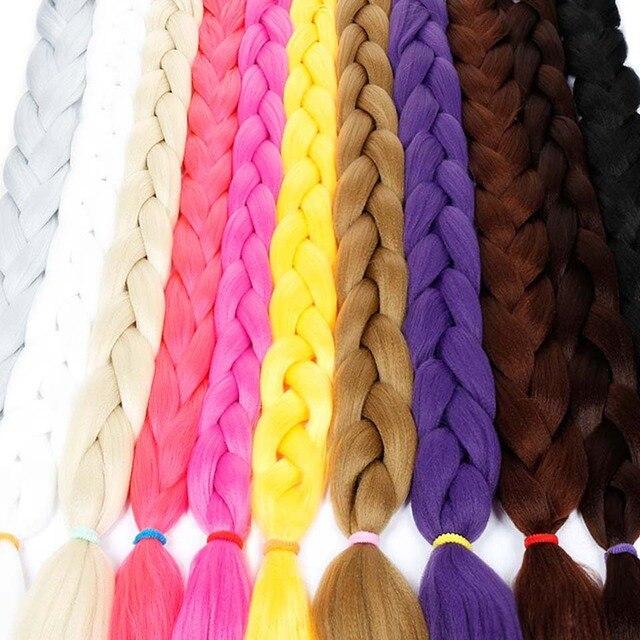 "Hair Long Jumbo Braids Crochet Hair Pink Black Purple 82"" 165g Braiding syntheti Hair Extensions DIFEI"