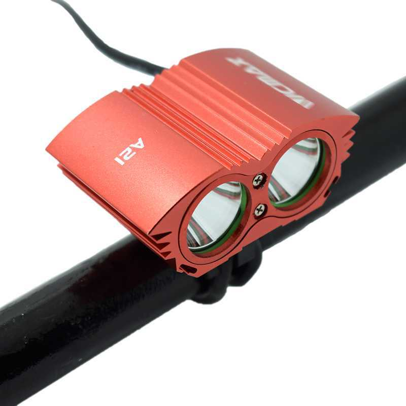 Cycling 6400mAh Battery 5000 Lumens 2x XM-L T6 LED Bike Bicycle Light Lamp HeadLight Headlamp Bike Front Light BA21RB1 18000 lumens bike headlamp flashlight 9x cree xm l2 led bicycle light cycling helmet headlight 18650 battery pack charger