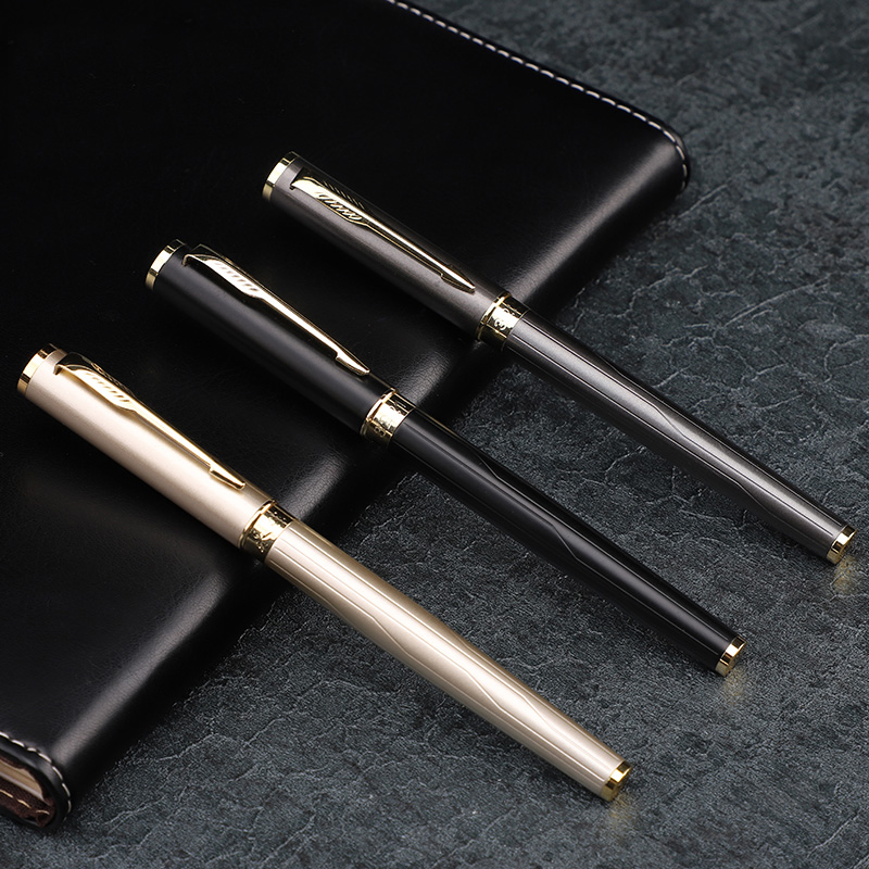 1pc/lot Carved Fountain Pen High Quality 0.5mm Fine Nib Arrow Clip Ink Pens School Office Supplies Business Gift Stationery jinhao1200 silver 18kgp dragon clip carved stationery school black ink refills 0 7mm nib office roller ball pen
