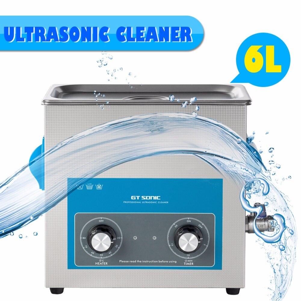 Gt Sonic P6 6l 220 240v 150w Ultrasonic Cleaner Tank Bath Jewelry Generator Circuit 50w 220v Digital Display Cleaning Appliances Watch Glasses Board Limpiador