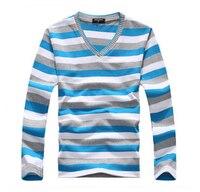 TFGS Прибытие 2016 Мужской Хлопковый свитер с длинными рукавами в полоску модный и популярный пуловер мужской новый бренд