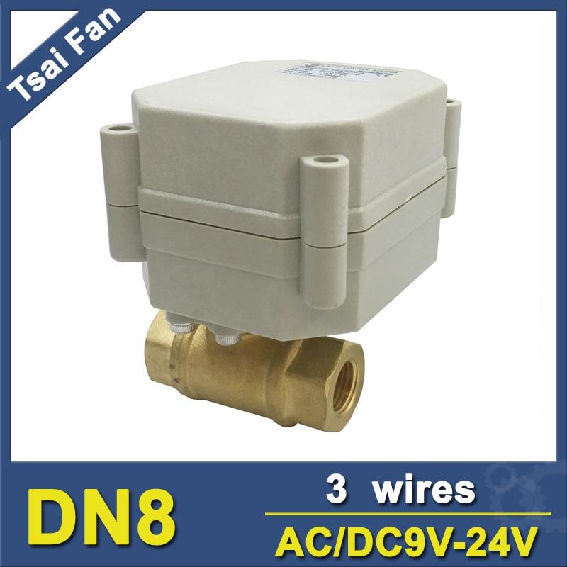 vanne 3 voies motoris/ée DC 5v 12v 24V DC24V 3//4 T type vanne motorise 3 voies 1//2 3//4 1 1-1//4 1-1//2
