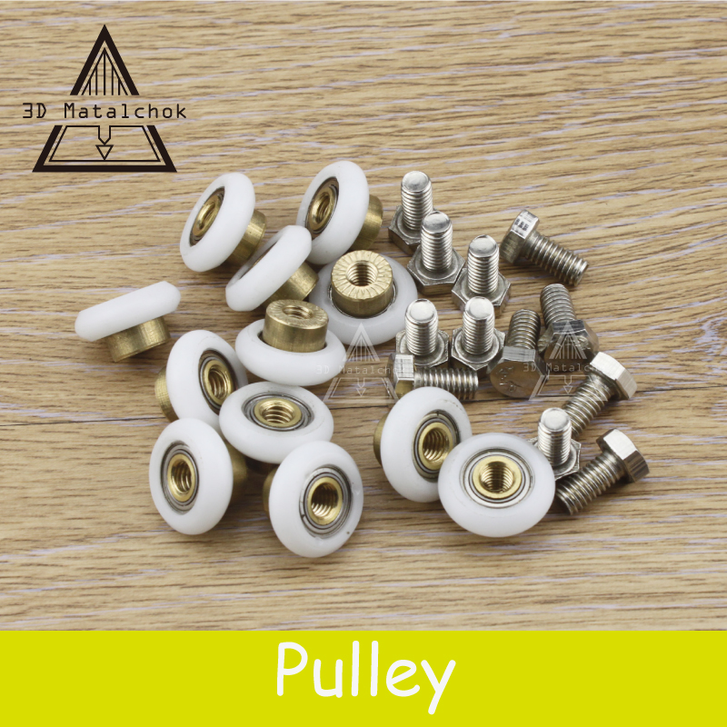 Hot!12pcs/lot Delta 3D Printer Kossel K800 Accessories Pulley's Parts Diameter 19mm Small Rollers Scroll Wheels Free shipping