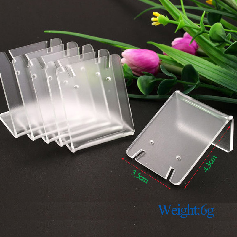 Hot Sale 43*35mm Acrylic Transparent Earrings Jewelry Display Stand For Woman Earrings Storage Show Wholesale price