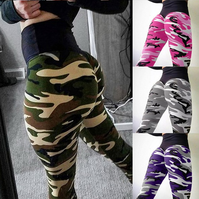 Camouflage Slim Hip Fitness Sports Leggings for Women
