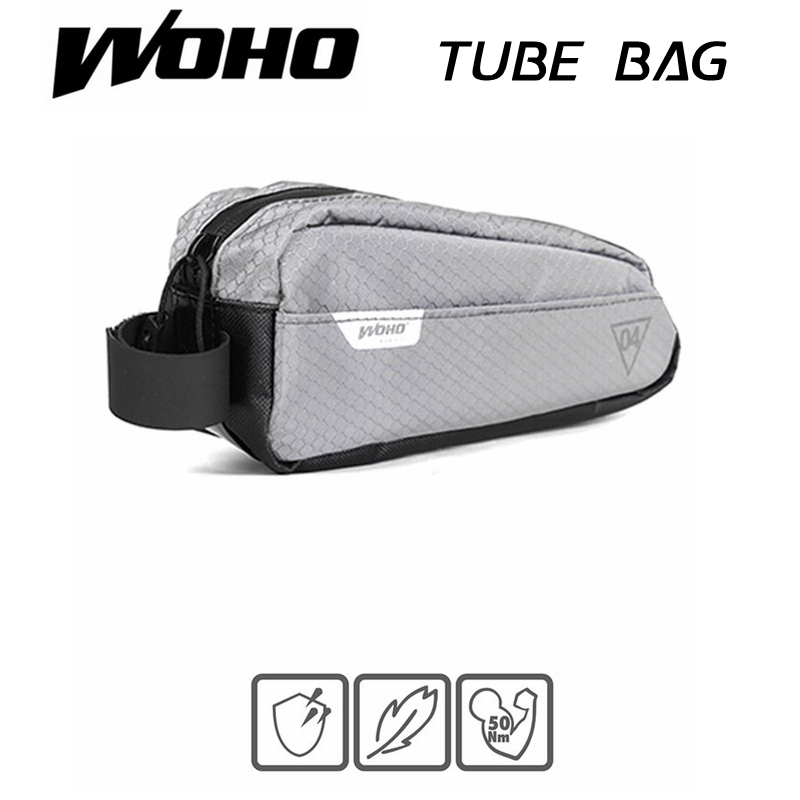 WOHO XTOURING BIKEPACKING ULTRALIGHT TOP TUBE BAG IRON GRAY Cycling Bicycle Bags for MTB ROAD
