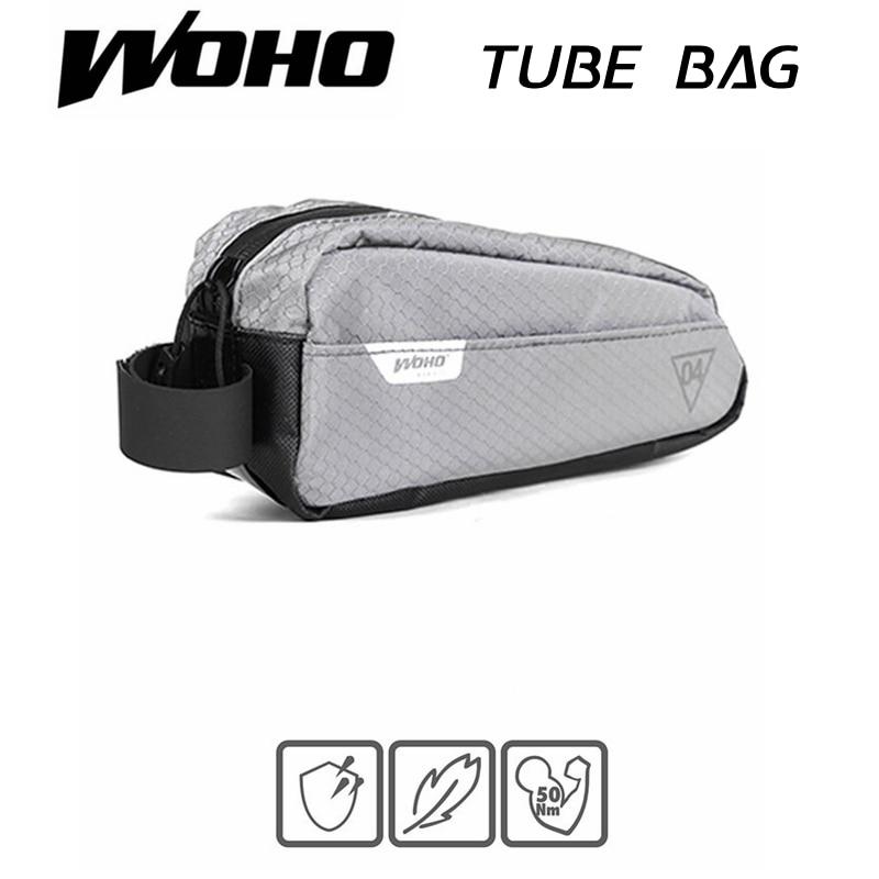 "WOHO ""XTOURING"" BIKEPACKING ULTRALIGHT TOP-TUBE BAG IRON GRAY, Cycling Bicycle Bags for MTB ROAD"