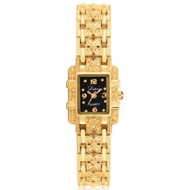 2018 Luxury Women Bracelet Watches Rose Gold Women Rhinestone Stainless Steel Ba