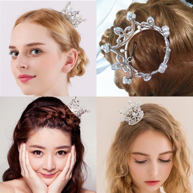 Wedding Bridal Pearl Crown Tiara