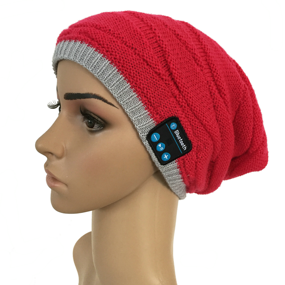Ituf Fashion Hats Warm Smart Cap Headset Headphone Speaker with Mic Winter Outdoor Sport Bluetooth Stereo Music Hat Wireless