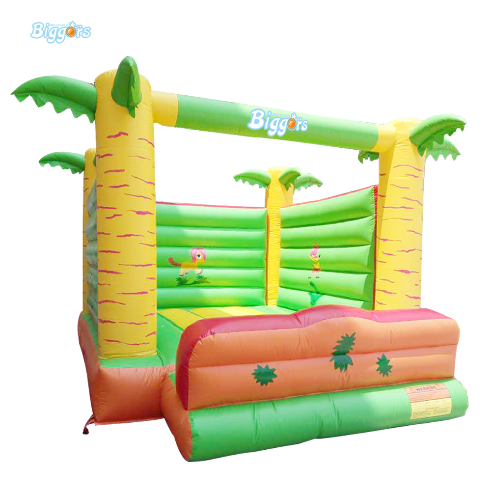 Palm Tree Inflatable Jumping Trampoline Bouncer House Kids Toys With Free Blower цена