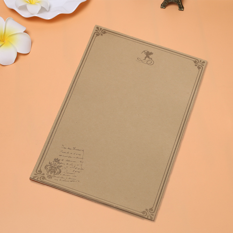 10 sheets/set European Vintage Style Writing Paper Letter Good Quality Culture Stationery Kraft Letter Office XZ01