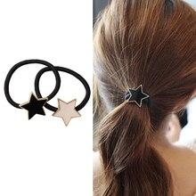 М мизм, простая металлическая звезда, веревка для волос, Женская эластичная резинка для волос, головные уборы для девочек, резинки для волос, модные сплав, звезды, аксессуары для волос