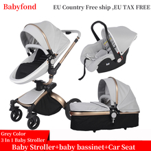 Babyfond luxury baby stroller 3 in 1 Fashion Carriage 360 degree rotation two-wa