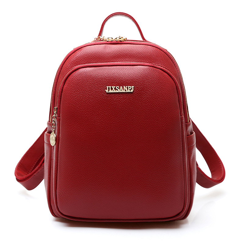 Women Backpacks Soft Solid Leather Mini Small Backpack Designer Female School Bags for Teenagers Girls Travel Mochilas Femininas