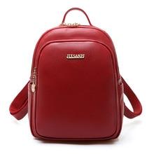 Женские рюкзаки мягкие однотонные кожаные мини маленький рюкзак дизайнерские женские школьные сумки для подростков девочек путешествия Mochilas Femininas