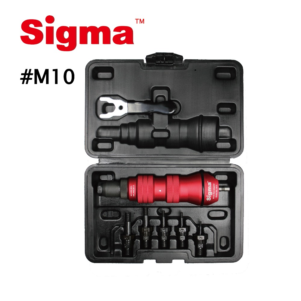 Image 5 - Sigma #M10 HEAVY DUTY Threaded Rivet Nut Drill Adapter Cordless or Electric power tool accessory alternative air rivet nut gunRiveter Guns   -