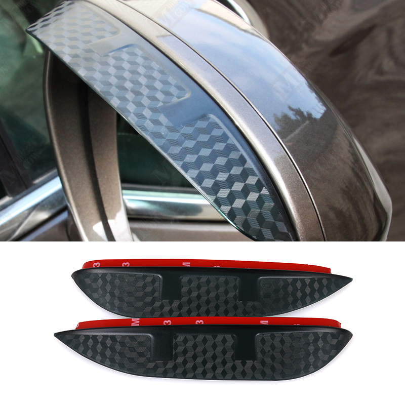 2016 Car Styling Carbon rearview mirror rain eyebrow Rainproof  Flexible Blade Protector  For Hyundai Santa Fe IX45 2013-2016 seintex 85749 hyundai santa fe 2013 black