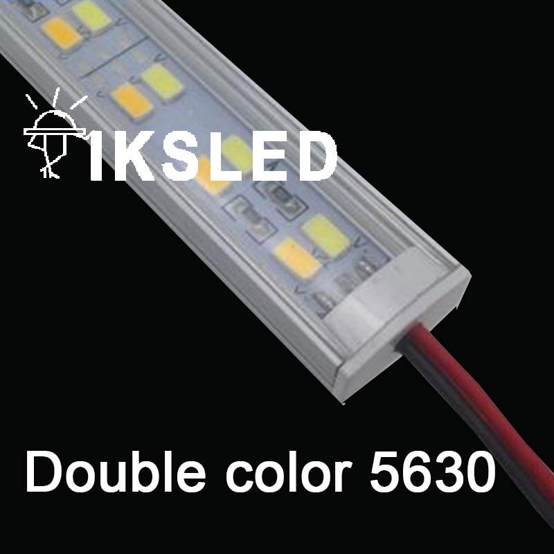 50/100 pièces 100cm 5630 led rigide rigide bande bar double rangée blanc et blanc chaud 12v armoire lumières pas étanche lampe de cuisine