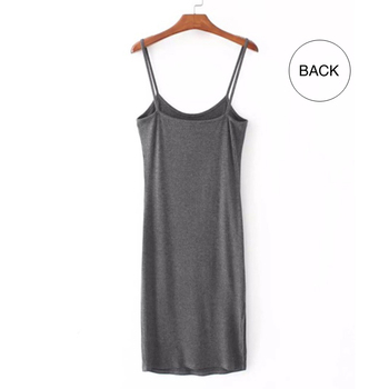 Sexy Split Hem Backless Midi Vestidos Mujer Bodycon Dress Women Summer 2020 Casual Sheath Cotton Robe Femme T Shirt Dresses C144 4