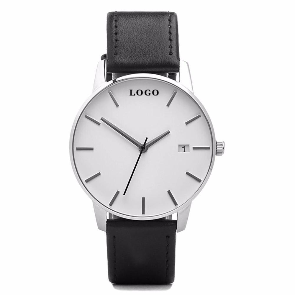 OEM Minimalist Wrist Watch Fashion Causal Women Dress Watches Custom Logo Men's Quartzo Date Watches oem 2015 j 60cmhm385 gold watches