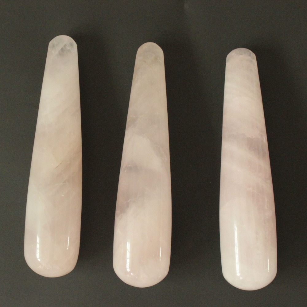 ФОТО Large size Natural rose quartz Yoni Wands Body Massager Sex Toys for Adult Love Wand for Women Kegel Exercise