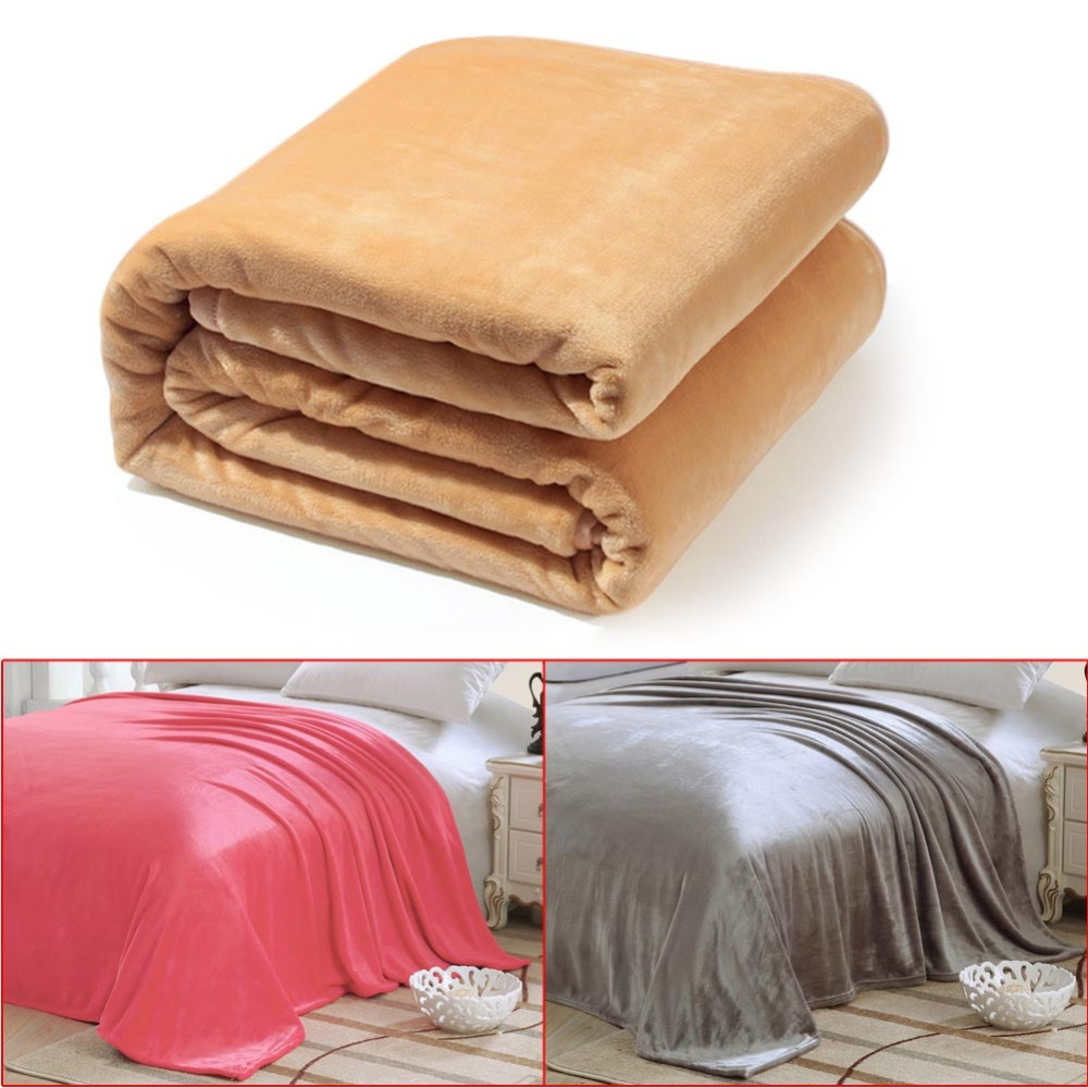 cozy warm soft lightweight couch bed travel flannel blanket for sofaair - Flannel Blanket