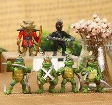 Hot sale 6Pcs/lot Teenage Mutant Ninja Turtles TMNT Action Figures Key Chain Toy Set Classic Collection