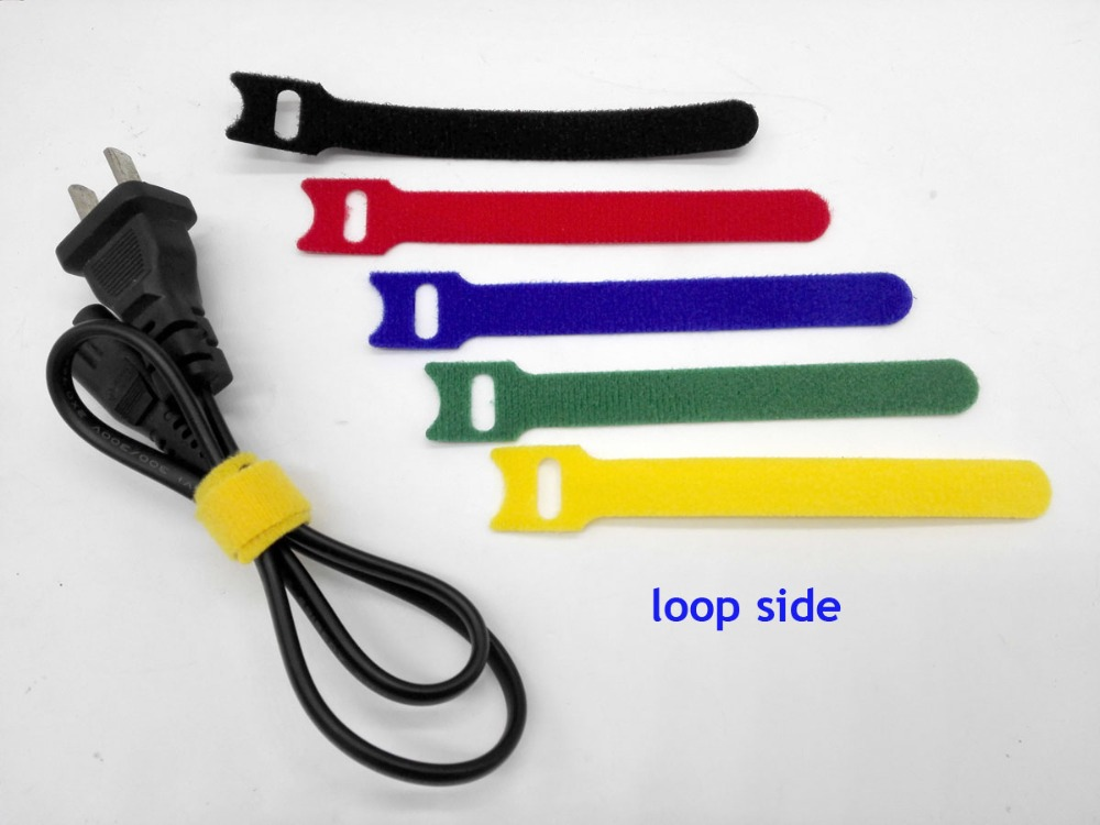 140pcs 120*12mm mix color Magic Nylon Reusable Cable Ties with Eyelet Hole back to back cable tie nylon strap wrap thin hook tie