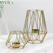 Nordic Geometric Candle Holder European Ornaments Creative Candlestick Home Table Wedding Decoration Stand Accessories