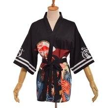 Vintage Japanese Harajuku Casual Kimono Trench Coat Retro Cosplay Yukata Leisure