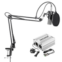 Neewer NW 700 Pro Condenser Microphone Kit Includes NW 35 Suspension Boom Scissor Arm Stand Built