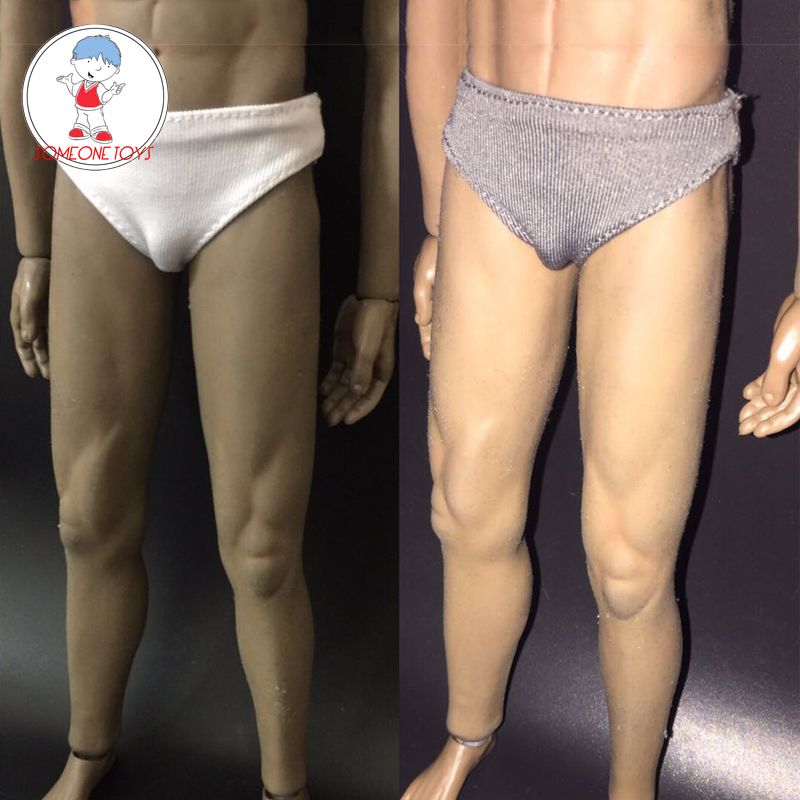 3 Colors 1:6 Scale Male Soldier Underwear Briefs For 12 inches PH OD Male Body Action Figure Dolls