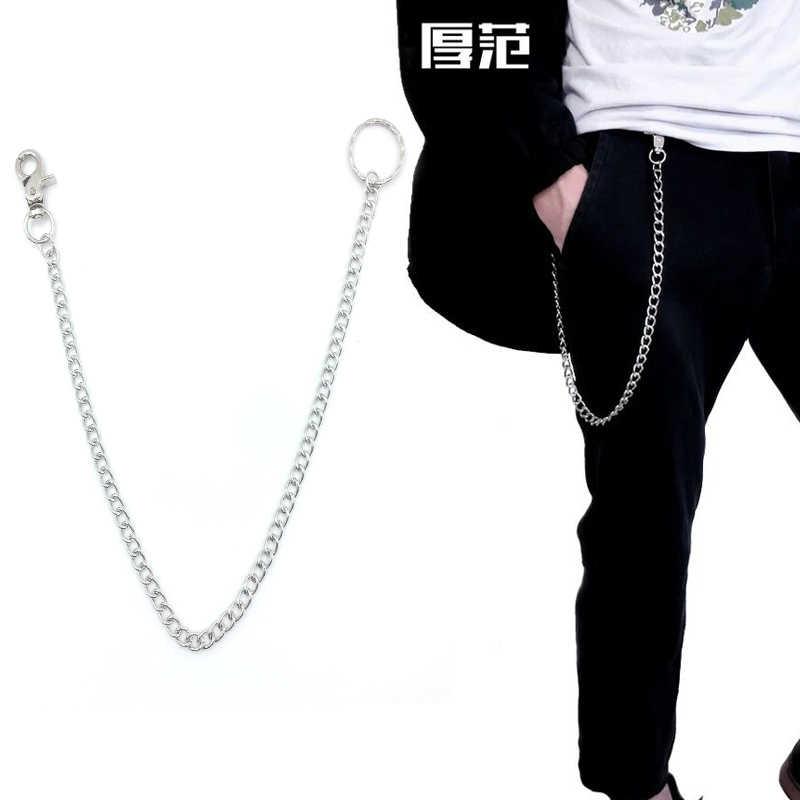 Уличный большой брелок для ключей в стиле панк-рок, ремень для брюк, хипстерские брелки, джинсовые брелки для ключей в стиле хип-хоп, аксессуары для Kpop LZ08