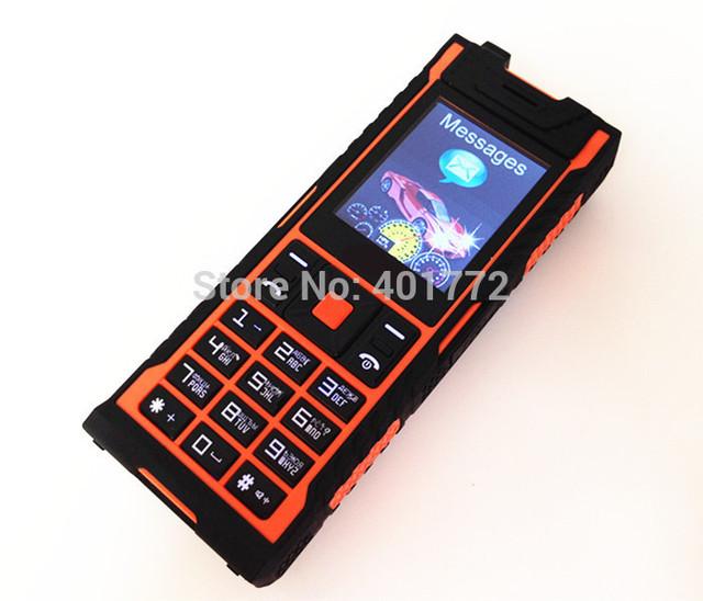 Dual sim Teléfono Móvil IP67 Impermeable A Prueba de Choques A Prueba de Polvo Al Aire Libre Del Ejército H de Vibración Del Teléfono móvil Celular mp3