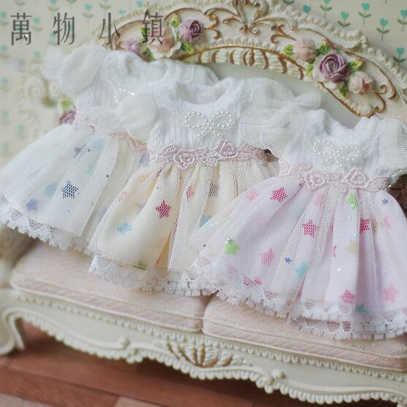 NEW Arrival Sweet Cute Star Yellow/Blue/Pink Skirt+Headwear 1/6 1/8 1/12 OB11 YOSD AS BJD Dress BJD Doll Clothes sweetie chocolate mousse european retro outfit dress suit for bjd doll 1 6 yosd doll clothes lf9