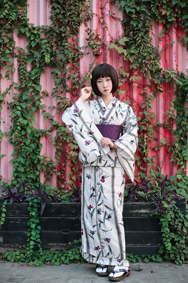 Ladies Dress In Cotton Print Kimono Set