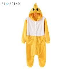 Желтая утка Косплэй костюм теплые мягкие пижамы Для мужчин Для женщин вечерние костюм взрослых Onepiece Мультфильм животных Симпатичные